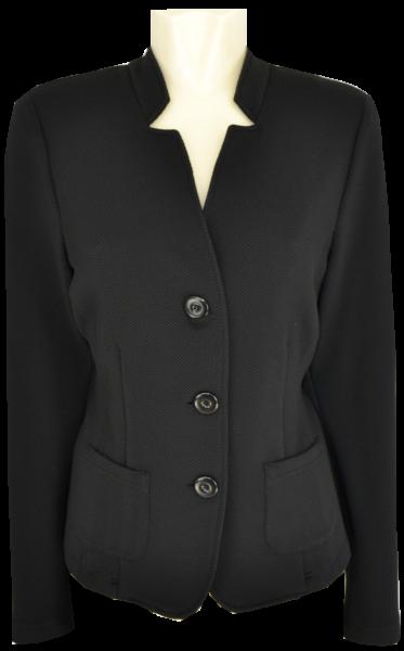 Leichte Jersey Jacke in schwarz