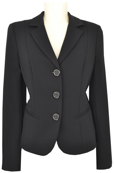3 -Knopf Blazer in uni schwarz