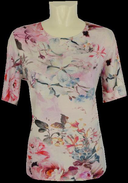 1/2 Arm T-Shirt mit dezent floralem Druck
