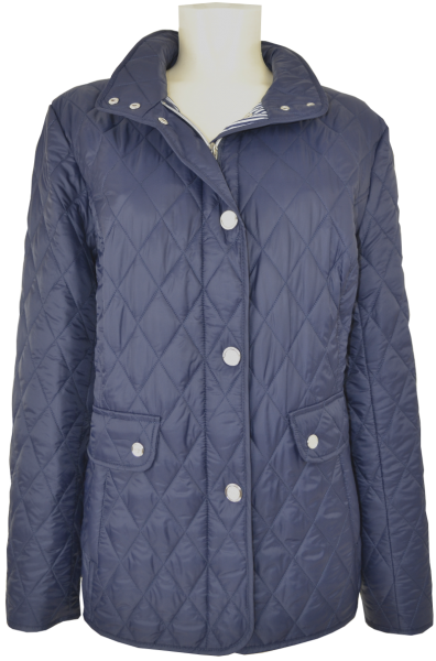 Übergangs Steppjacke in marine blau