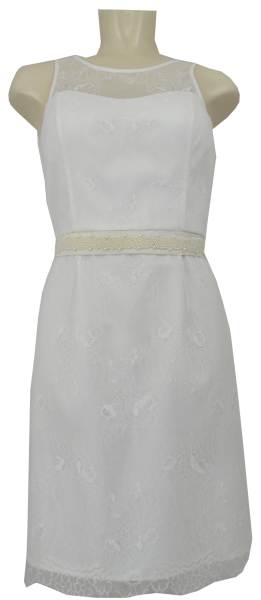 Mittellanges Brautkleid in ivory white