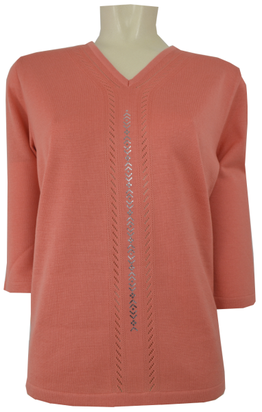 3/4 Arm Pullover in apricot