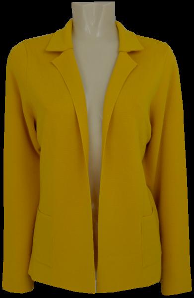 Leichtstrickjacke in honig-gelb