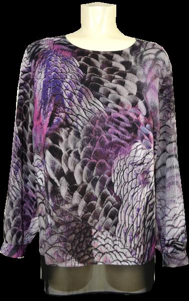Blusen Longshirt in mehrfarbig