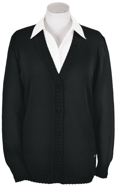 Cardigan Strickjacke als 5-Knopf in schwarz