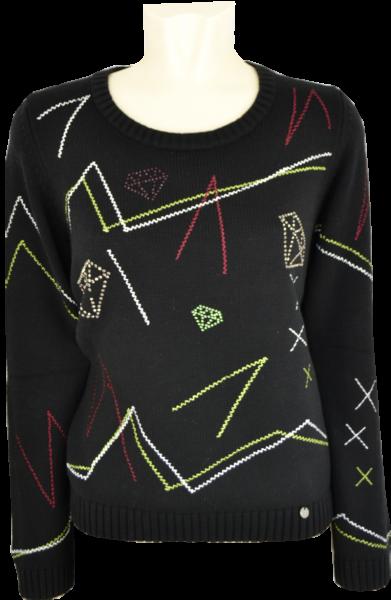 Pullover mit 1/1 Arm und Glanz
