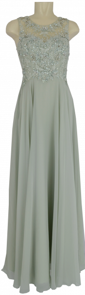 Langes Ballkleid in cream white-misty jade