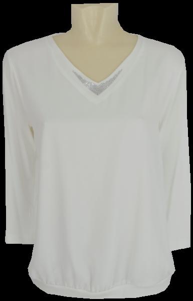 Blusen Shirt mit 3/4 Arm in ecru