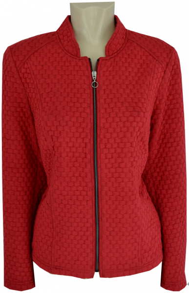 Blazer Jacke in uni chilli red