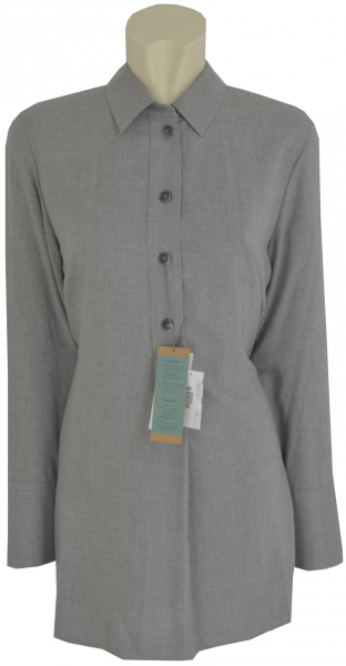 Long Bluse in grau meliert