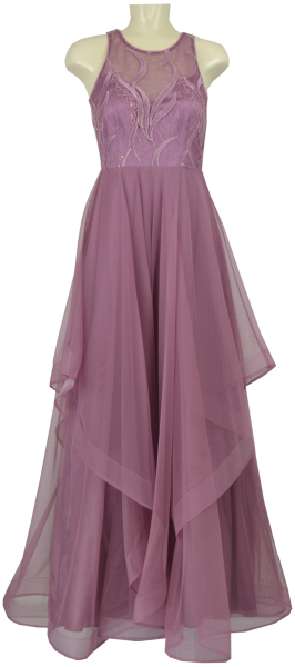 Langes Ballkleid in dusky orchid