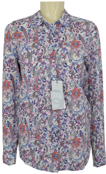 1/1 Arm Bluse in allover floral gemustert