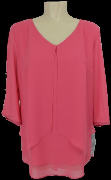 Elegantes Blusen-Longshirt in rouge