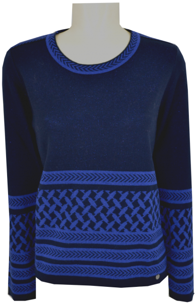 Pullover mit 1/1 Arm in marine-royal