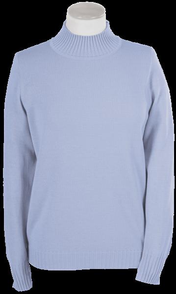 Antiallergischer Pullover mit Stehbund in bleu