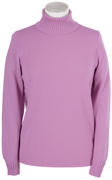 Antiallergischer Pullover mit Rollkragen in rose
