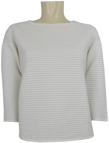 Pullover in off white mit Rippen Optik