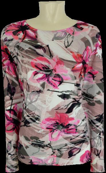1/1 Arm T-Shirt mit dezent floralem Druck