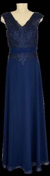 Langes Ballkleid in mitternachtsblau