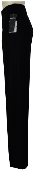 Hose mit rund-um-gummizug in schwarz