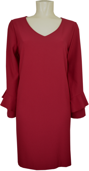 Kleid in uni rot