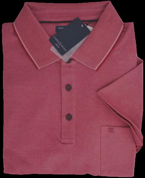 1/2 Arm Polo Shirt in kamin-rot meliert