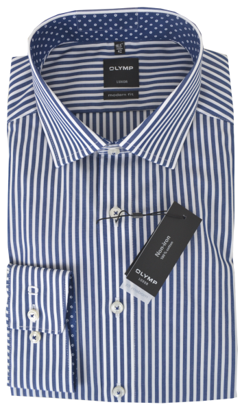 Business und Freizeithemd in blau gestreift