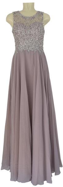 Langes Ballkleid in cloud-silver