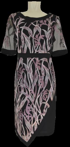 Festlich elegantes Kleid in schwarz-rosenholz