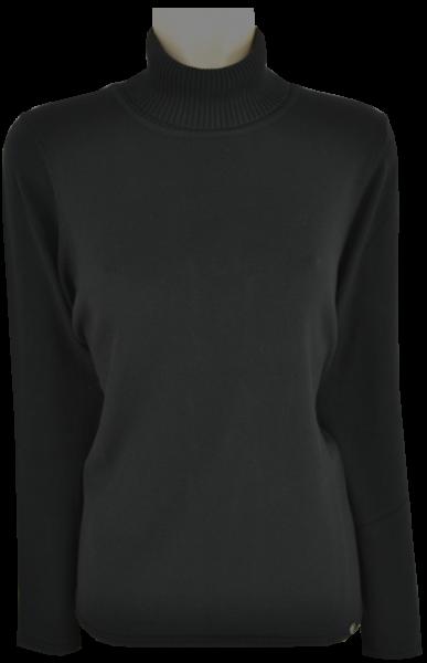 Pullover mit Rollkragen in schwarz