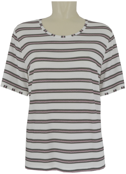 1/2 Arm Shirt in mehrfarbig geringelt