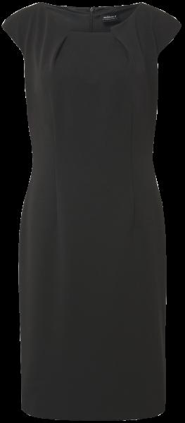 Jersey-Crepe Etuikleid in schwarz
