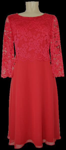 Mittellanges Abendkleid mit Spitze in rot