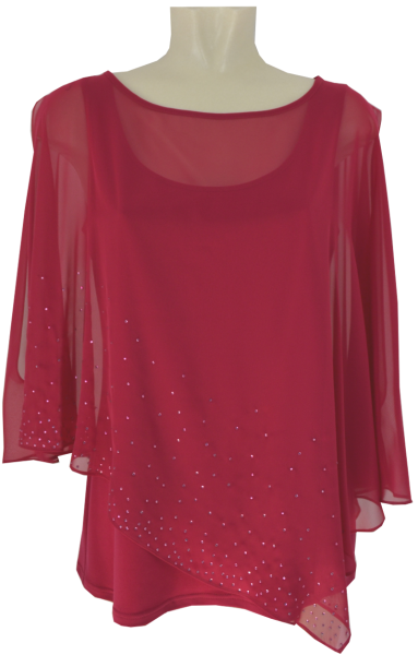 Festliches Shirt in persian pink