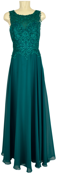 Langes Ballkleid in emerald green