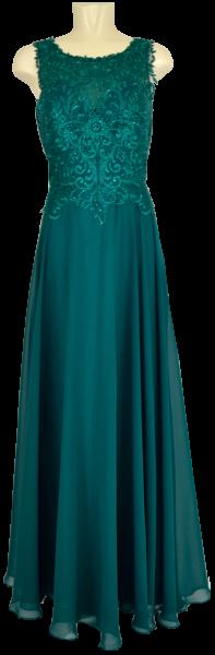 Langes Ballkleid in emerald green