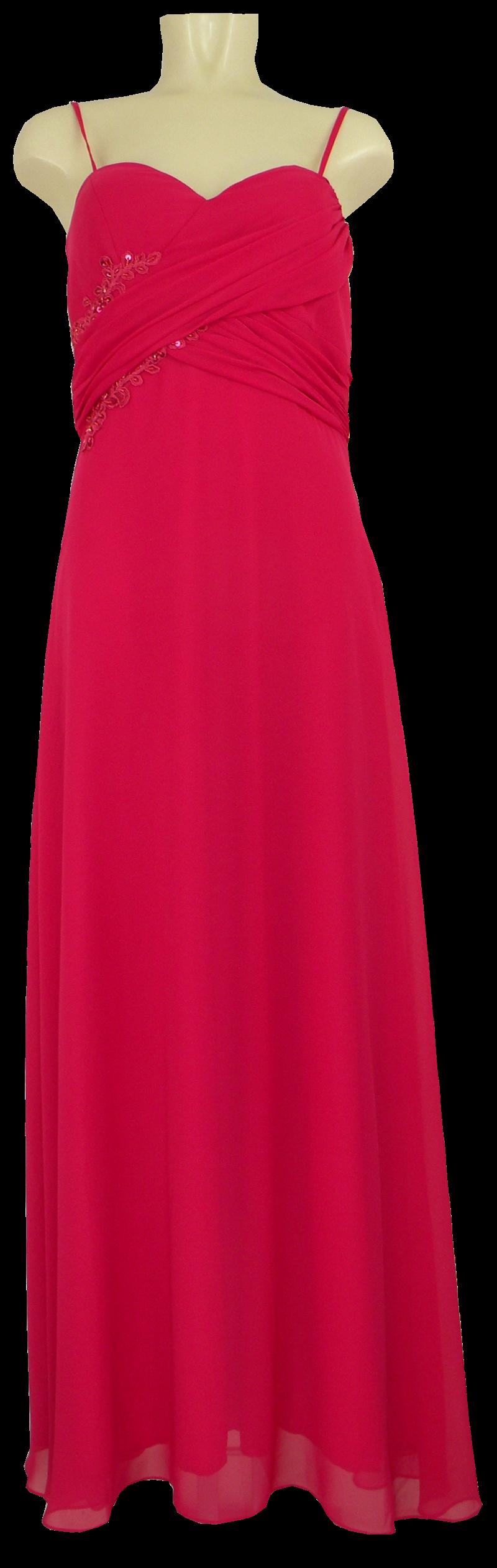 Langes Abendkleid Der Marke D M Fashion In Magenta Rot Mode Dasenbrock
