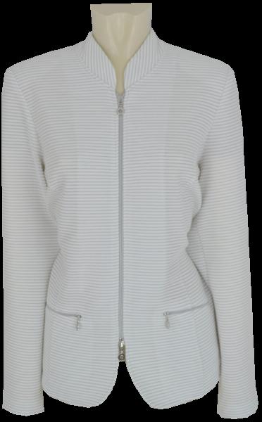 Jersey Blazer-Jacke in white mit Glanz