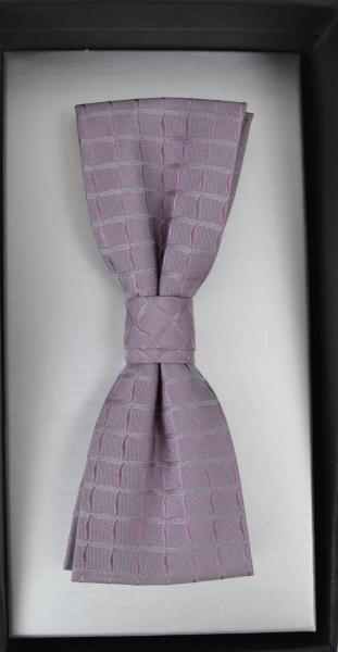 Schleife in rose-silber gemustert