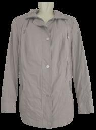 Leichte Jacke mit Kapuze in beige