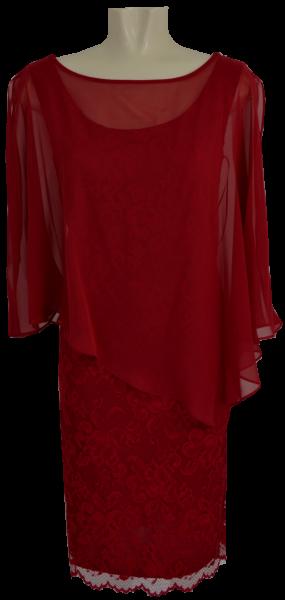 Mittellanges Kleid in diva red