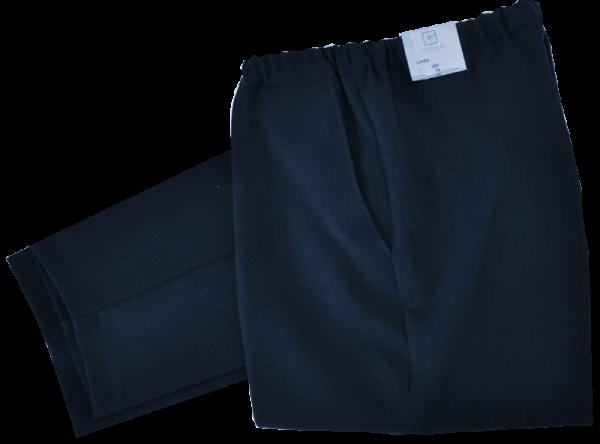 Etwas leichtere Stoff Schlupfhose in dunkel blau