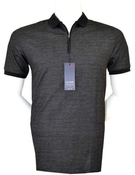 Polo Shirt in anthra meliert
