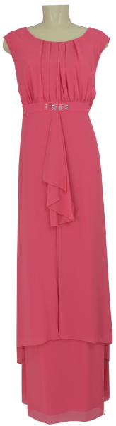 Langes Abendkleid in rouge