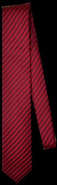 Krawatte reine Seide in rot gestreift