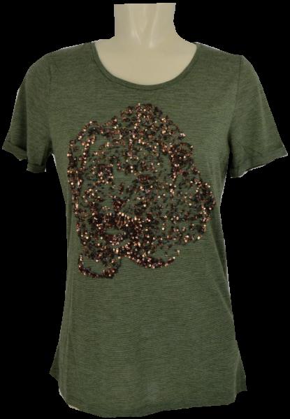 1/2 Arm T-Shirt mit Pailletten