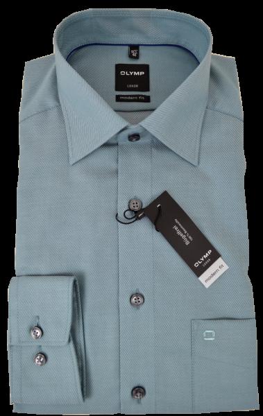 1/1 Arm Business-und Freizeithemd auf blass-grün dezent gestreift