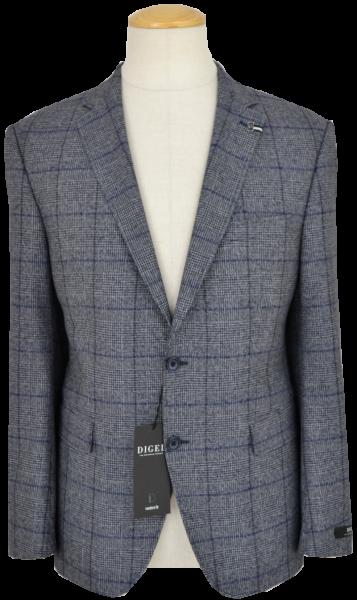 Sakko in mehrfarbig blau-grau mit Glencheck Karo