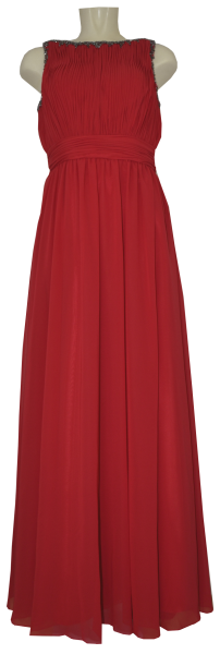 Langes Ballkleid in lipstick red