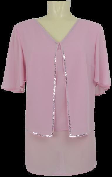 Festliche Bluse in rose